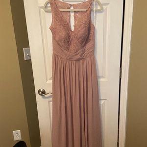 Pink Lace & Chiffon Bridesmaids dress